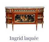 Louis xvi furniture such as this console table comprises a large part of the Taillardat collection